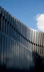 Close-up of the exterior of the Burwood Corporate Centre